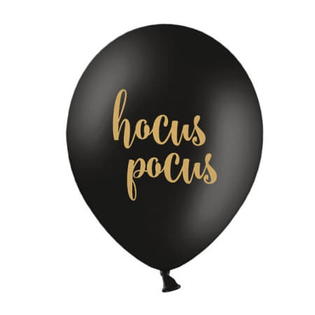 Hocus Pocus Black and Gold Halloween Balloons I Modern Halloween Party Decorations UK