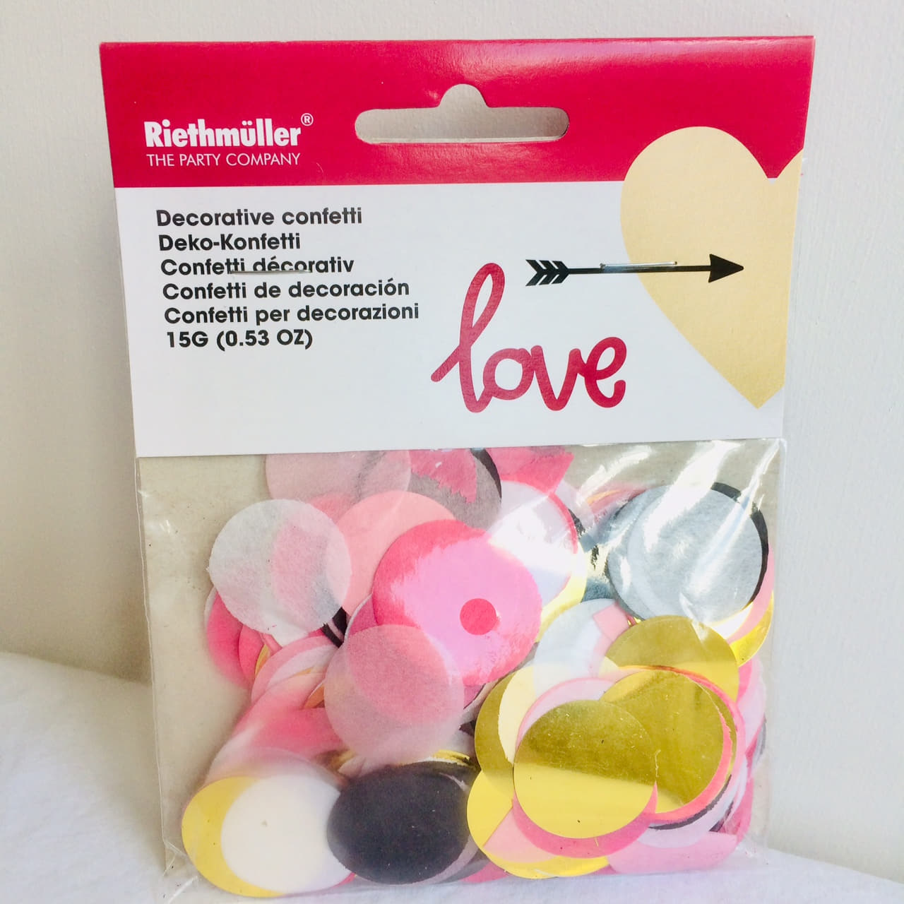 Pink, White, Black and Gold Circle Confetti I Party Table Confetti Decorations I My Dream Party Shop I UK