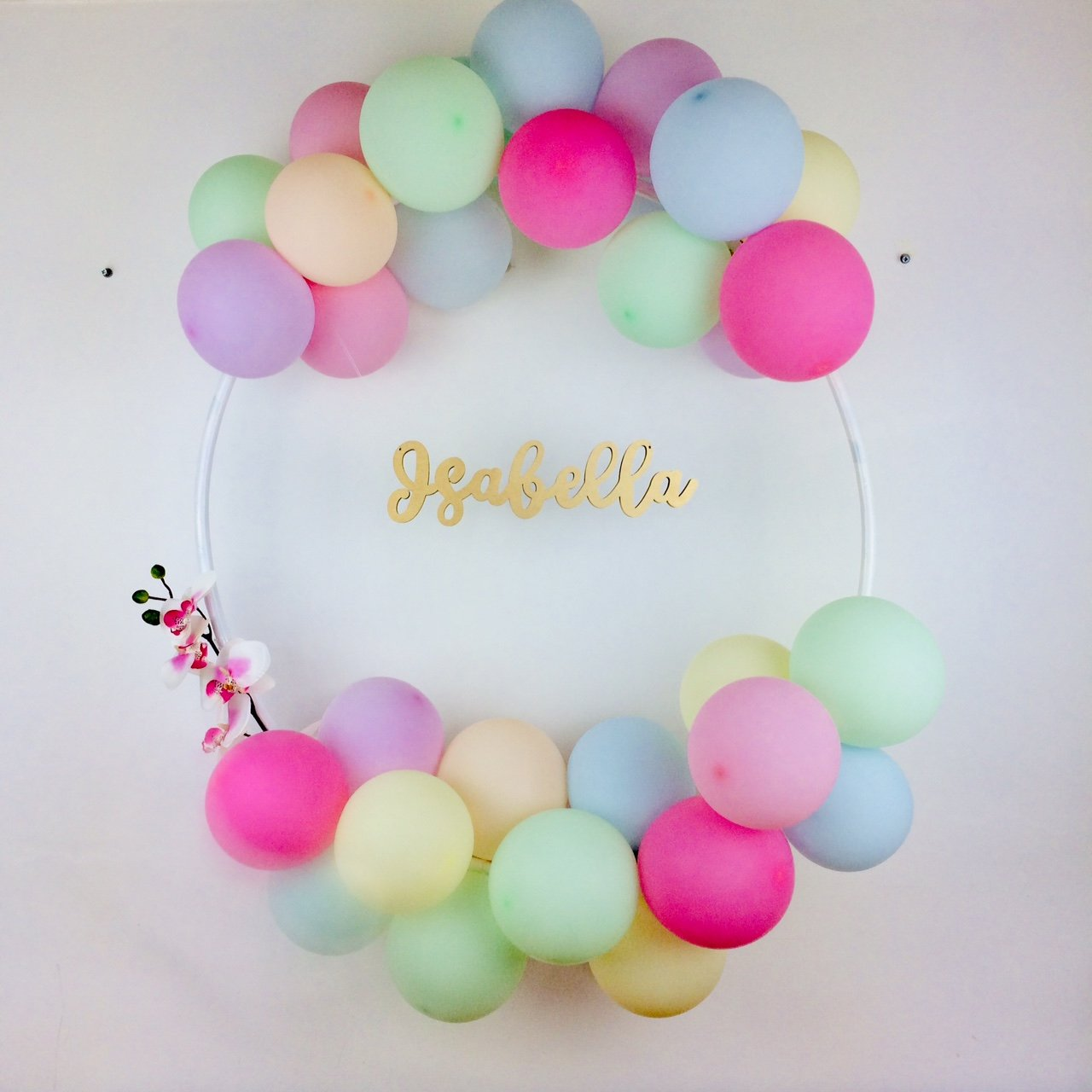 Bespoke Balloon Hoop Name Kit I Bespoke Birthday Decorations I My Dream Party Shop I UK