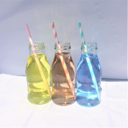 Retro Glass Mini Milk Bottle I Cool Bottles and Party Cups I UK