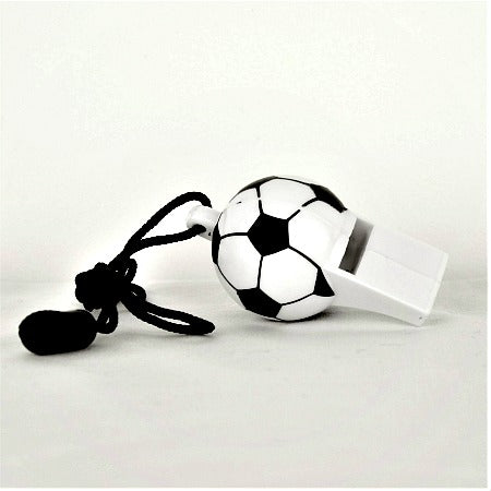 Plastic Black and White Football Whistle - My Dream Party Shop