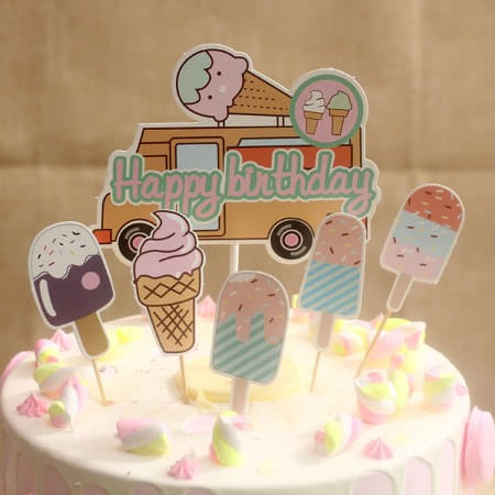 Ice Cream Party Cake Topper Set I Ice Cream Party Decorations I My Dream Party Shop I UK