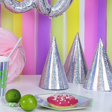 Iridescent Party Hats I Iridescent Party Supplies I My Dream Party Shop UK