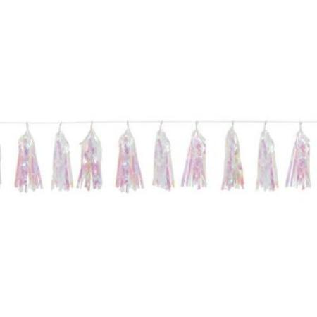 Iridescent 9ft Tassel Garland My Dream Party Shop