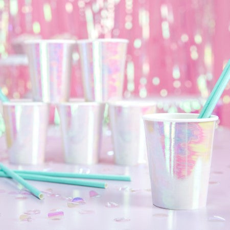Iridescent Party Cups I Modern Party Tableware I My Dream Party Shop I UK