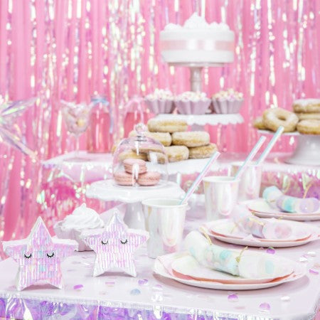 Iridescent Metallic Door Curtain or Backdrop I My Dream Party Shop I UK