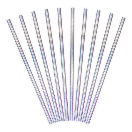 Iridescent Paper Party Straws I My Dream Party Shop I UK