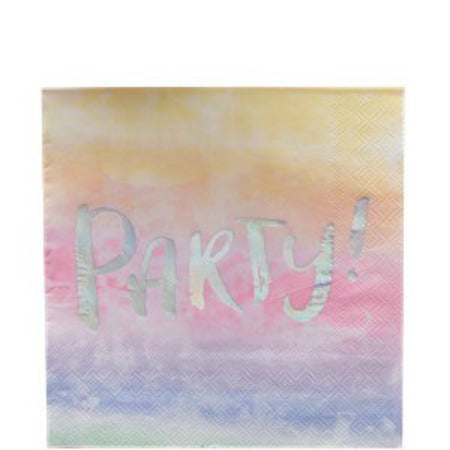 Iridescent Party Foiled Paper Napkins - 33cm - My Dream Party Shop