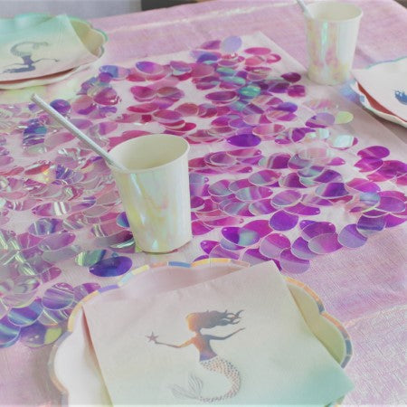 Iridescent Pink Large Sequin Table Runner I Mermaid or Under the Sea Party Decoration I My Dream Party Shop I UK