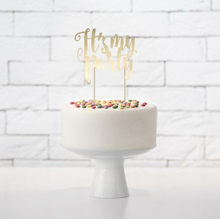 It's My Party Gold Cake Topper I Cake Decorations I My Dream Party Shop I UK