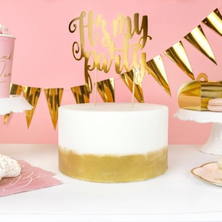 It's My Party Cake Topper I Gold Cake Toppers I My Dream Party Shop I UK