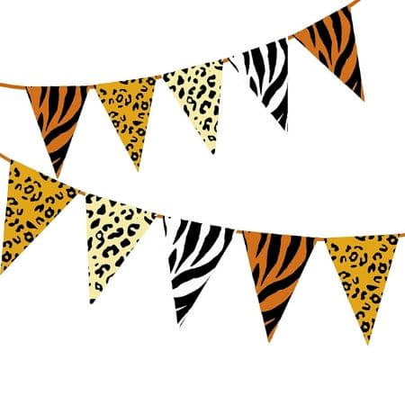 Jungle Print Bunting I Jungle Party Decorations I My Dream Party Shop