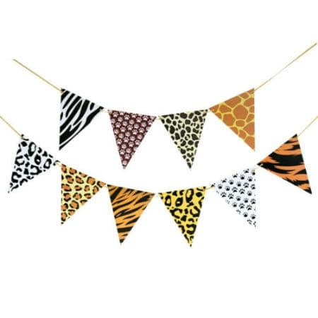 Jungle Print Bunting I Safari Party Decorations I My Dream Party Shop