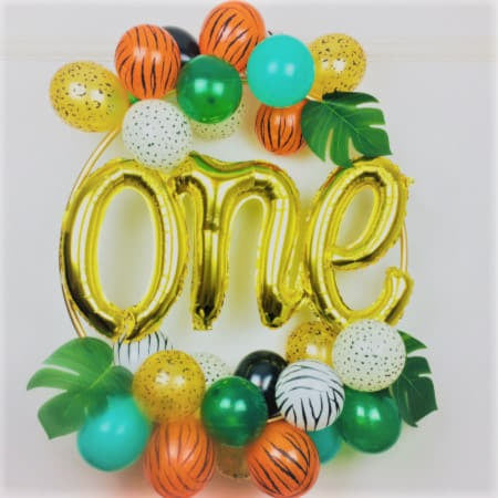 Jungle Wild One Balloon Hoop Kit I Cool Balloon Decorations I My Dream Party Shop I UK