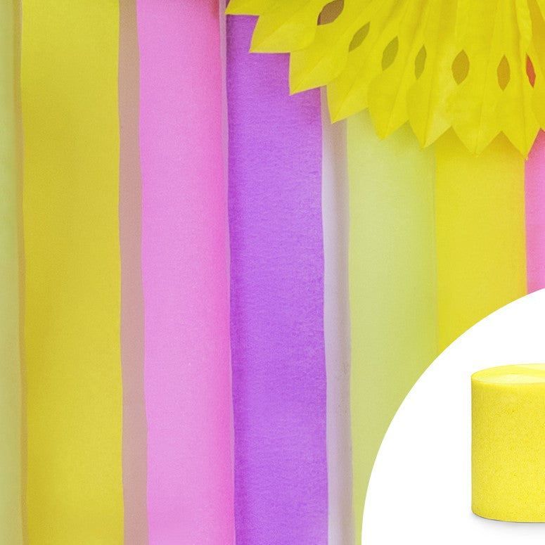 Yellow Crepe Streamer Decoration I My Dream Party Shop I UK