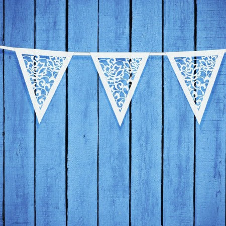 Vintage Lace Effect Paper White Party or Wedding Bunting My Dream Party Shop