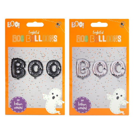 Silver Halloween Boo Balloons I Halloween Party I My Dream Party Shop I UK