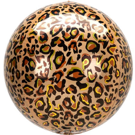 Leopard Print Orbz Foil Balloon I Jungle Party Balloons I My Dream Party Shop UK