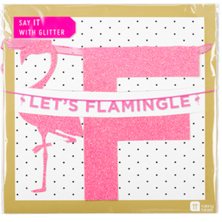 Let's Flamingle Pink Garland I Flamingo Party Decoration I My Dream Party Shop I UK