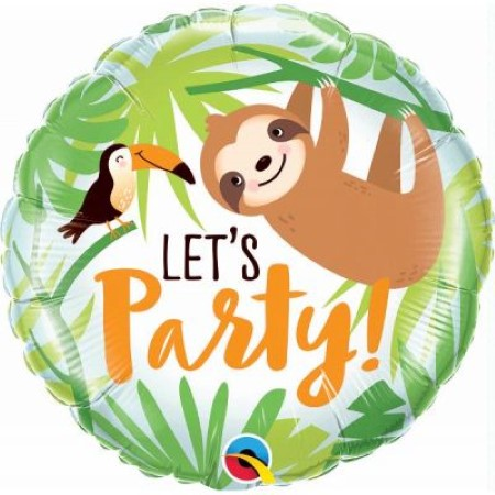 Let's Party Toucan and Sloth Foil Balloon I Fun Foil Balloons I My Dream Party Shop UK