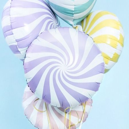 Light Blue Swirl Foil Balloon I Modern Blue Party Decorations I My Dream Party Shop UK