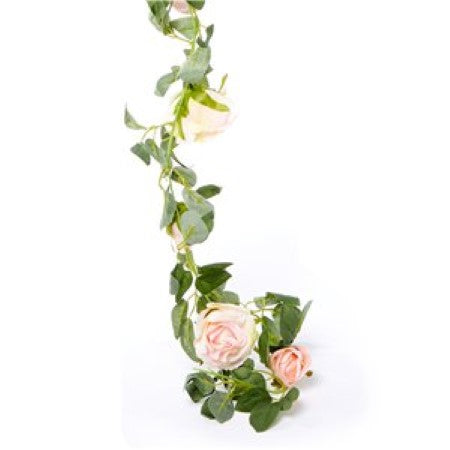 Artificial Light Pink Rose Flower Garland I Wedding and Party Flower Decoration I My Dream Party Shop I UK