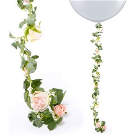Artificial Light Pink Rose Flower Garland I Floral Wedding and Party Decorations I My Dream Party Shop I UK