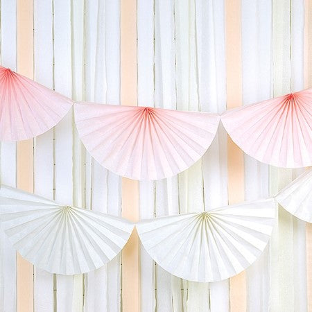 White Tissue Rosette Garland I My Dream Party Shop I UK
