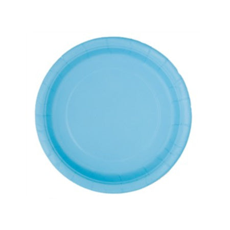 Light Powder Blue Round Plates I Pretty Party Tableware I My Dream Party Shop I UK