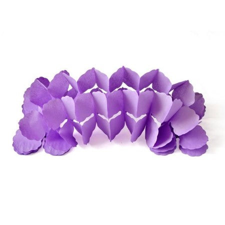 Lilac Four Leaf Clover Tissue Paper Garland I Light Purple Party Decorations I My Dream Party Shop I UK