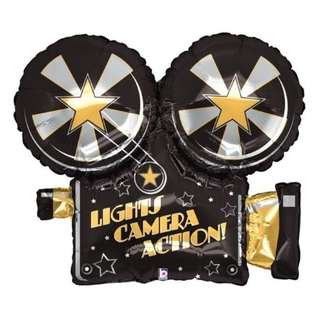 Light, Camera, Action Foil Balloon I Movie Party Decorations I My Dream Party Shop UK