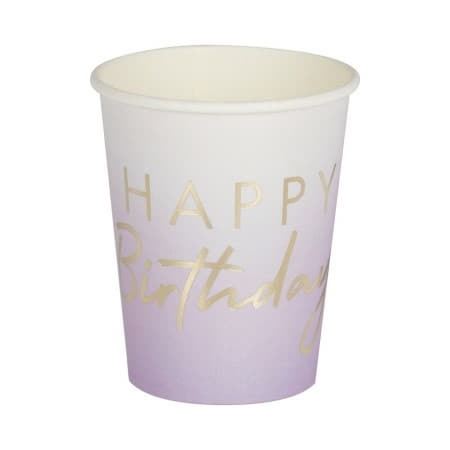 Lilac Ombre and Gold Foil Cups I Modern Lilac Party I My Dream Party Shop UK
