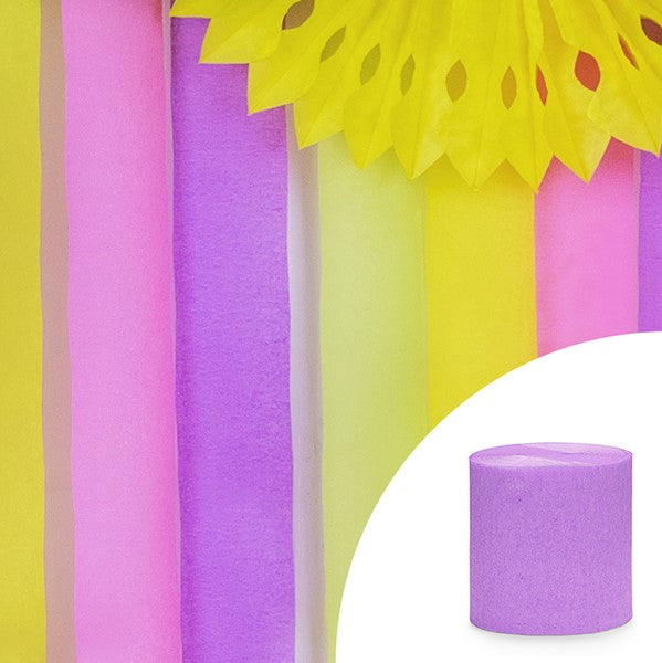 Pretty Lilac Crepe Streamer Decoration I My Dream Party Shop I UK