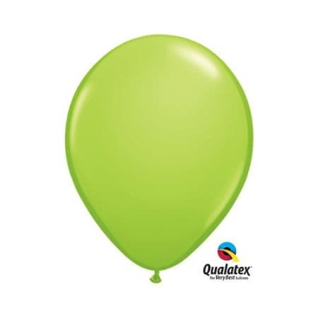 Lime Green 11 Inch Balloons by Qualatex I Green Party Decorations and Balloons I UK
