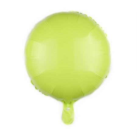 Lime Green Candy Macaroon Round Foil Balloon I Cool Foil Balloons I My Dream Party Shop I UK