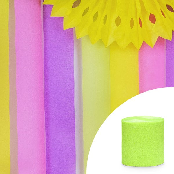 Lime Green Crepe Streamer I My Dream Party Shop I UK