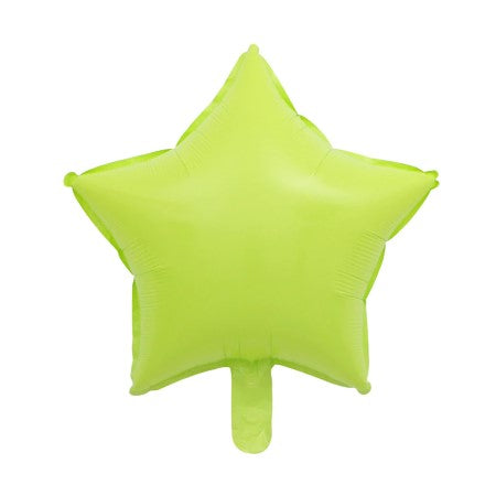 Lime Green Star Shaped Foil Balloons I Cool Foil Party Balloons UK