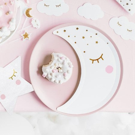 Little Star Moon Plates I Modern Baby Shower Party Supplies UK