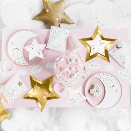 Little Star Shaped Napkins I Modern Christening Party Supplies I UK