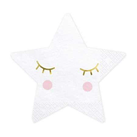 Little Star Shaped Napkins I Little Moon and Stars Party Collection I UK