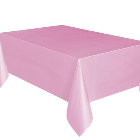"Lovely Light Pink Rectangular Plastic Tablecover 54""x 108"" I My Dream Party Shop I UK"