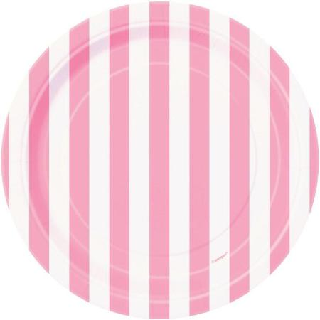 Pink and White Striped Plates I Pretty Pink Tableware I My Dream Party Shop UK