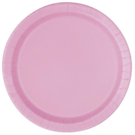 Round Pink Paper Plates I Pretty Pink Tableware I My Dream Party Shop UK