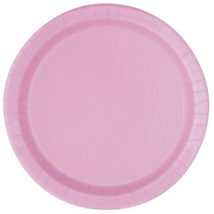 Pink 7 inch Round Paper Plates 20 pk - My Dream Party Shop