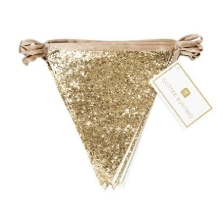 Luxe Gold Glitter Bunting by Talking Tables I UK
