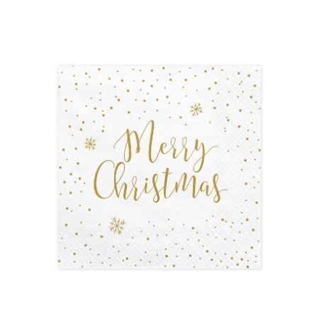 Merry Christmas Napkins I Gold Christmas Tableware I My Dream Party Shop