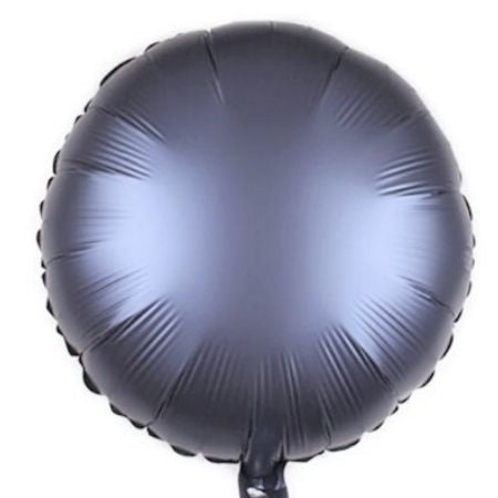Metal Blue Matt Round Foil Balloon I Modern Party Balloons