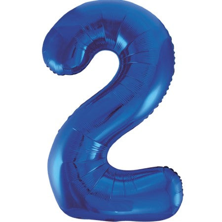 Gigantic Blue Foil Number 2 Balloon, 34 Inches I My Dream Party Shop