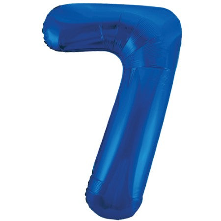Gigantic Blue Foil Number 7 Balloon, 34 Inches I My Dream Party Shop