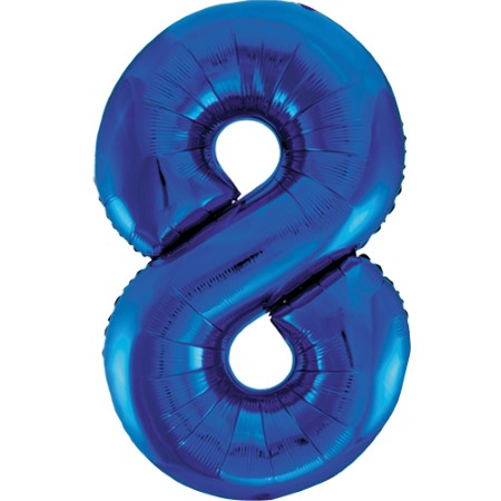 Gigantic Blue Foil Number 8 Balloon, 34 Inches I My Dream Party Shop
